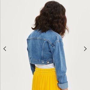 TOPSHOP MOTO shrunken denim jacket (Size 0)